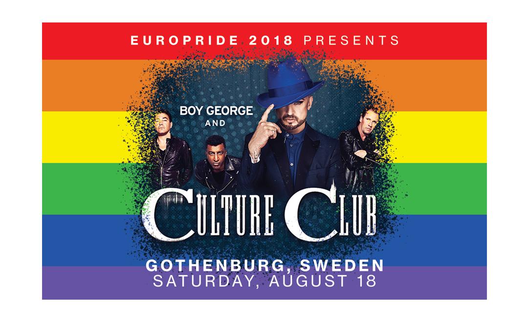 Boy George och Culture Club till EuroPride 2018 i Göteborg